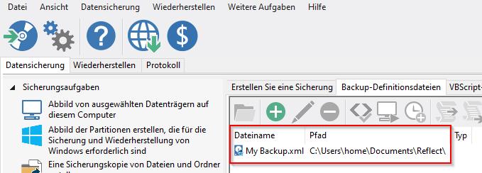 MacriumReflect Backup Definitionsdatei 1 1