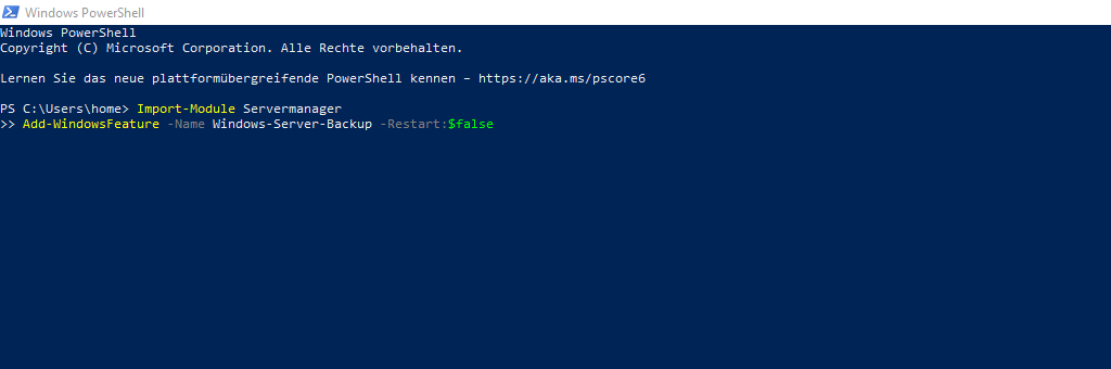 PowerShell-WindowsServerBackup