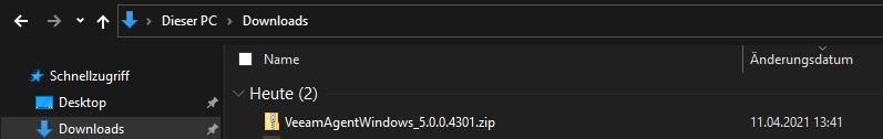 Veeam zip Datei