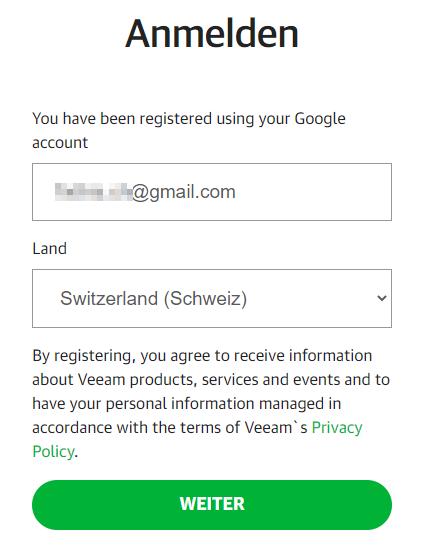 Bestätigen Anmeldung Google Account